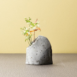 Japanese clay vase, GURE, gray