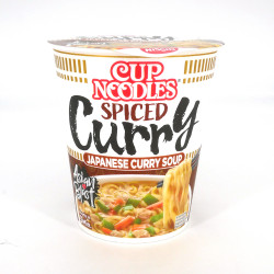 Cup of instant ramen with spicy curry flavor, NISSIN CUP NOODLE