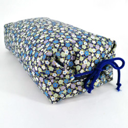 Makura Japanese pillow with small blue flowers, MAKURA HANA, removable cover