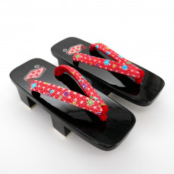 black traditional Japanese footwear GETA for women