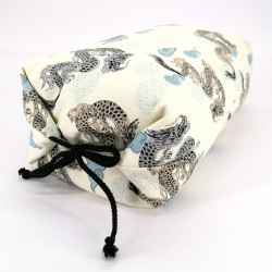 Makura Japanese pillow with small dragon, MAKURA RYU, removable cover