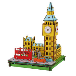 Mini cardboard mockup, BIG BEN, Big Ben, Made in Japan