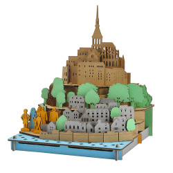 Mini cardboard model, MONT-SAINT-MICHEL, Mont-Saint-Michel