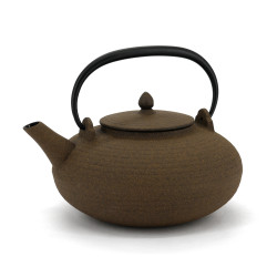 Japanese cast iron teapot, WAZUQU ITOME 0.7lt, beige - Slight defect