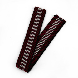 Japanese traditional red cotton obi belt, OBI