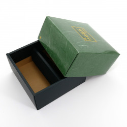 cardboard box for two Japanese tea boxes, KÂTON, green