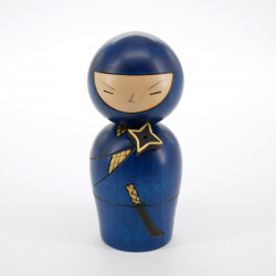 Japanese doll wooden KOKESHI. handmade in Japan - NINJA