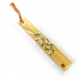 Japanese wooden bookmark - BUKKUMAKU SAKURA