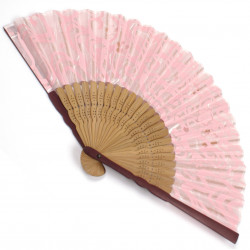 japanese fan bamboo & silk SAKURA