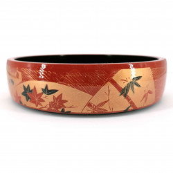 Large resin tray for sushi, red and gold - MOMIJI
