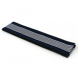 Japanese traditional blue cotton obi belt, OBI-SASH