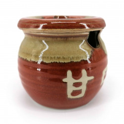 Mustard or sauce pot with lid, orange, POTTO