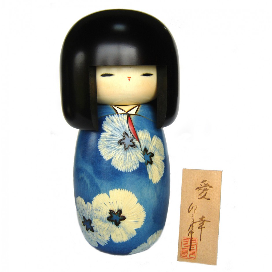 Japanese doll wooden KOKESHI. handmade in Japan - AIKO
