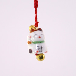 Japanese cat decorative hook for phone, MANEKINEKO, tricolor