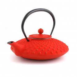 Japanese teapot cast iron, IWACHU KAMBIN 0,9lt, red
