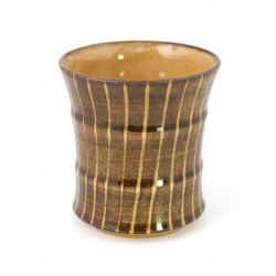 Japanese brown ceramic teacup 2882824