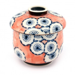 blue red tea cup with lid ceramic 17404