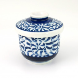 blue tea cup with lid ceramic 1113234