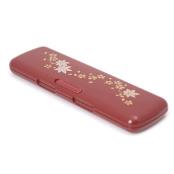 pair of japanese chopsticks, SAKURA, red