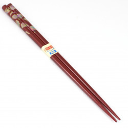 pair of japanese chopsticks, MAIOHGI, red
