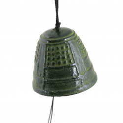 chime - cast iron wind bell from Japan, IWACHU, green temple