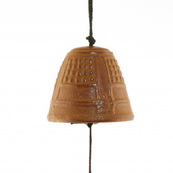 chime - Japanese cast iron wind bell - TEMPLE - brown