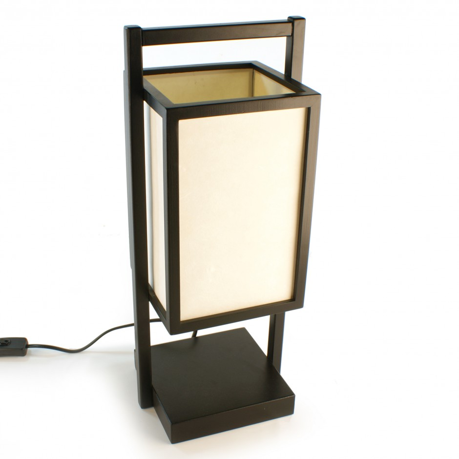 japanese black table lamp shoji. Black Bedroom Furniture Sets. Home Design Ideas