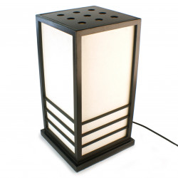 Japanese big black table lamp Nikko