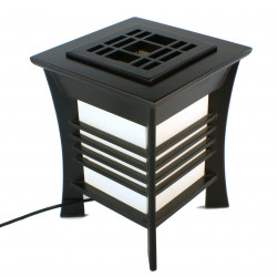 Japanese black table lamp Akida
