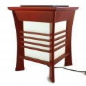 Lampe de table japonaise, AKIDA, rouge