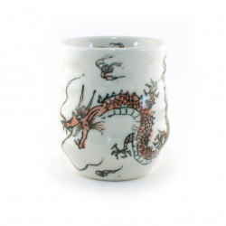 Japanese white cup red dragon 16M5483610E