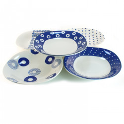 set de 5 assiettes ovales indigo Japan 16M1613306