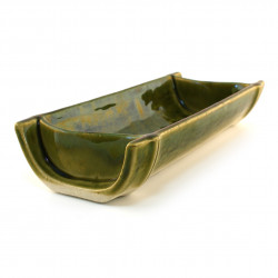 japanese rectangular sushi plate, TAKE, green