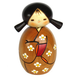 japanese wooden doll - kokeshi, HARUYKOI, Natural color