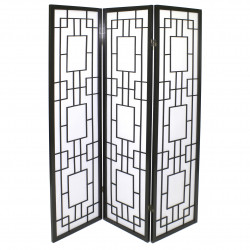 japanese screen made of wood and paper, MOUCHARABIEH, black