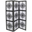 japanese screen made of wood and paper, CERCLE ZEN, black