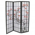 japanese screen made of wood and paper, PRUNIER, black