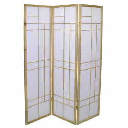 japanese screen made of wood and paper, comptemporain, natural color