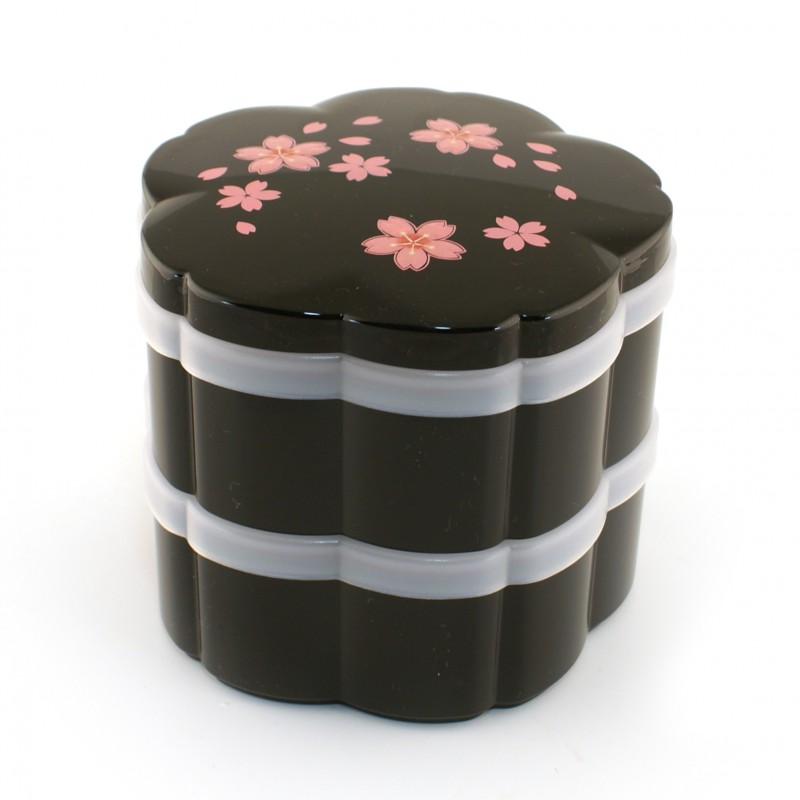 bo te repas bento japonaise noir sakura. Black Bedroom Furniture Sets. Home Design Ideas