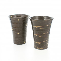 set of 2 tall cups black SHÔME KINSAI