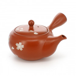 teapot with sakura flower patterns red SHUDORO SAKURABA