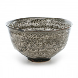 rice bowl white with black stains