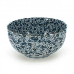 petit bol de riz traditionnel japonais BLUE FLOWER
