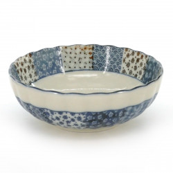 bowl with blue patterns white MARUMON USAGI