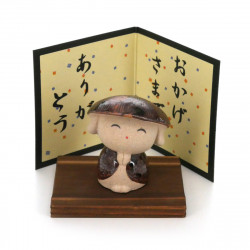 small-sized monk ornament with a thank you message ARIGATÔ KOBÔSAN